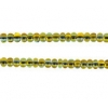 Seedbead 10/0 Harlequin Transparent green/yellow Natural